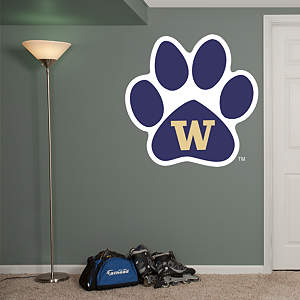 Washington Huskies Paw Logo Fathead Wall Decal